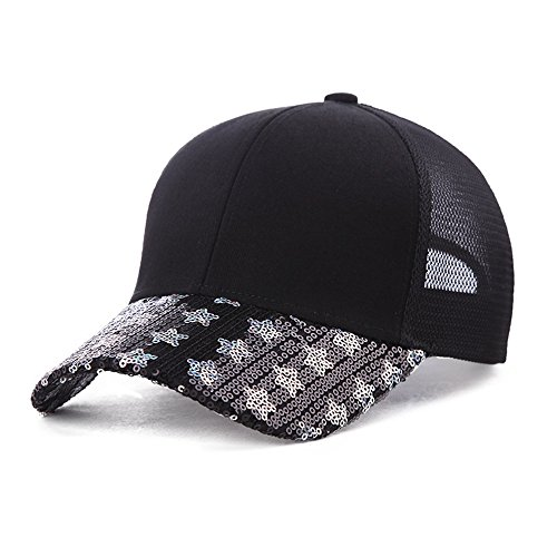Camping Cap Hat Lady Summer Day Decorated Baseball Cap Black Student Cap Sun Hat. for Men and Women