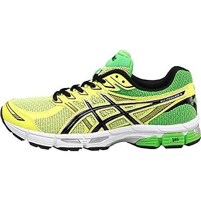 Mens Asics Gel Phoenix 6 Stability Running Shoes Flash Yellow/Onyx Guys  Gents (UK