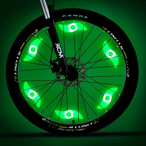 MACYWELL Bike Spoke Light 6 Pack Led Bike Wheel Light with Batteries Included Plus 6 Extra CR2032 Batteries Cycling Bicycle Decoration