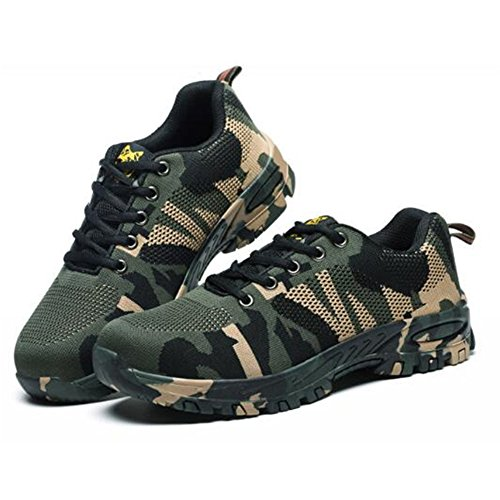 RuiSen Unisex Camouflage Labor Insurance Shoes, Work Safety Shoes Puncture Proof Safety Shoes Outdoor Shoes with Lace-up Breathable Wear-Resistant Anti-Slip (39/24.5cm) by RuiSen (Image #8)