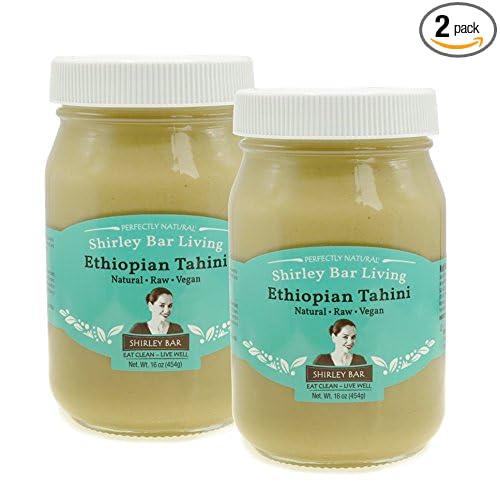 Shirley Bar Living Ethiopian Tahini, Kosher tahini dressing, Vegan, Raw,  hulled, non-Gmo - The Best