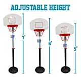 Adjustable Height Indoor Outdoor Basketball Hoop Kids Teens Goal Set Portable