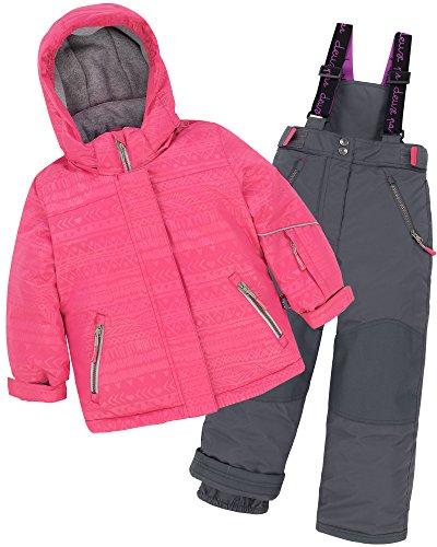 Deux par Deux Girls' 2-Piece Snowsuit I have a Crush Ebony, Sizes 6-14 - 14 by Deux par Deux