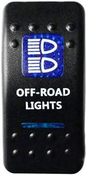 E Support 12v Auto Kfz Blau Led Lichtleiste Beleuchtet Wippenschalter Kippschalter Auto Armaturenbrett Schalter Off Road Light Auto