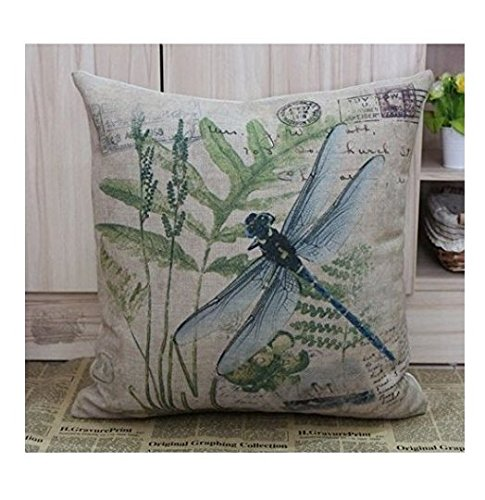 18 X 18 Inch Cotton Linen Retro Vintage Home Decorative Indoor/Outdoor Throw Cushion Cover / Pillow