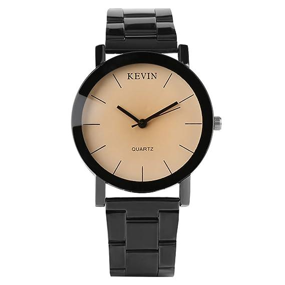 Relojes de Hombre de la Marca Kevin de Acero Inoxidable con Correa de Reloj de Cuarzo