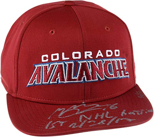 "Mikko Rantanen Colorado Avalanche Autographed Fanatics Branded Cap with""1st NHL Hat Trick 2/28/17"" Inscription - Limited Edition of 17 - Fanatics Authentic Certified from Sports Memorabilia"