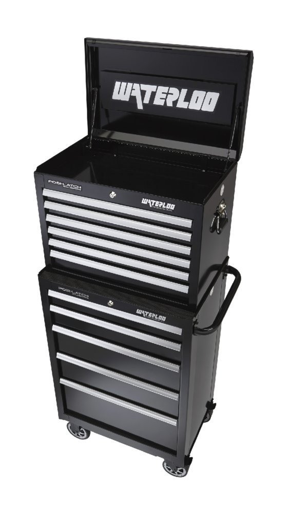 Waterloo Professional Series 6-Drawer Tool Chest with Internal Tubular Keyed Locking System, Black Finish, 26'' W by Waterloo (Image #2)