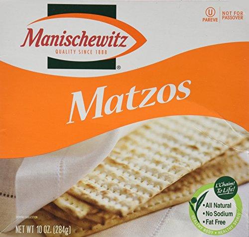 Kosher Bread - Manischewitz Matzos, 10 Oz. (Pack of 3)