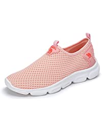 Women's Fashion Design Ultra Lightweight Breathable Mesh Athleisure Slip On Walking Shoes