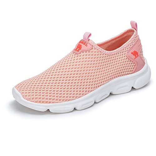 Camel Women's Fashion Design Ultra Lightweight Breathable Mesh Athleisure Slip On Walking Shoes