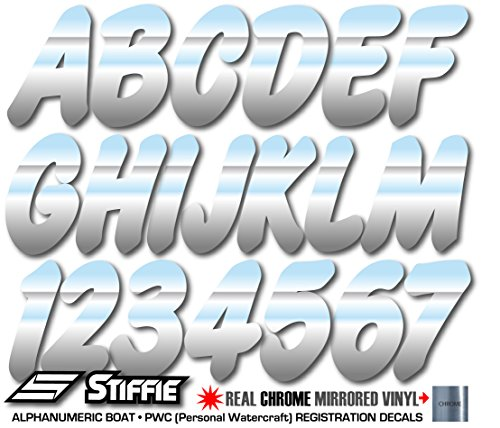 chrome number stickers - 5