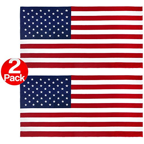 Kaufman 2pk - American Flag 30 inch x 60 inch Beach and Pool towel Set. Two large by Kaufman