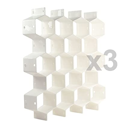 Amazoncom Xin Store White Honeycomb Drawer Organizers Dividers For