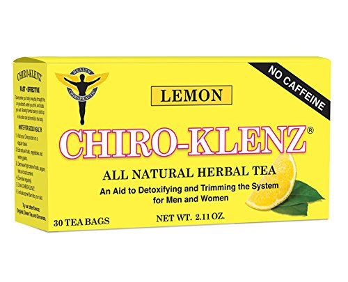 Chiro-Klenz Lemon | Detox, Cleansing Tea | Supports Weightloss | Relieves Constipation | All Natural, Caffiene Free