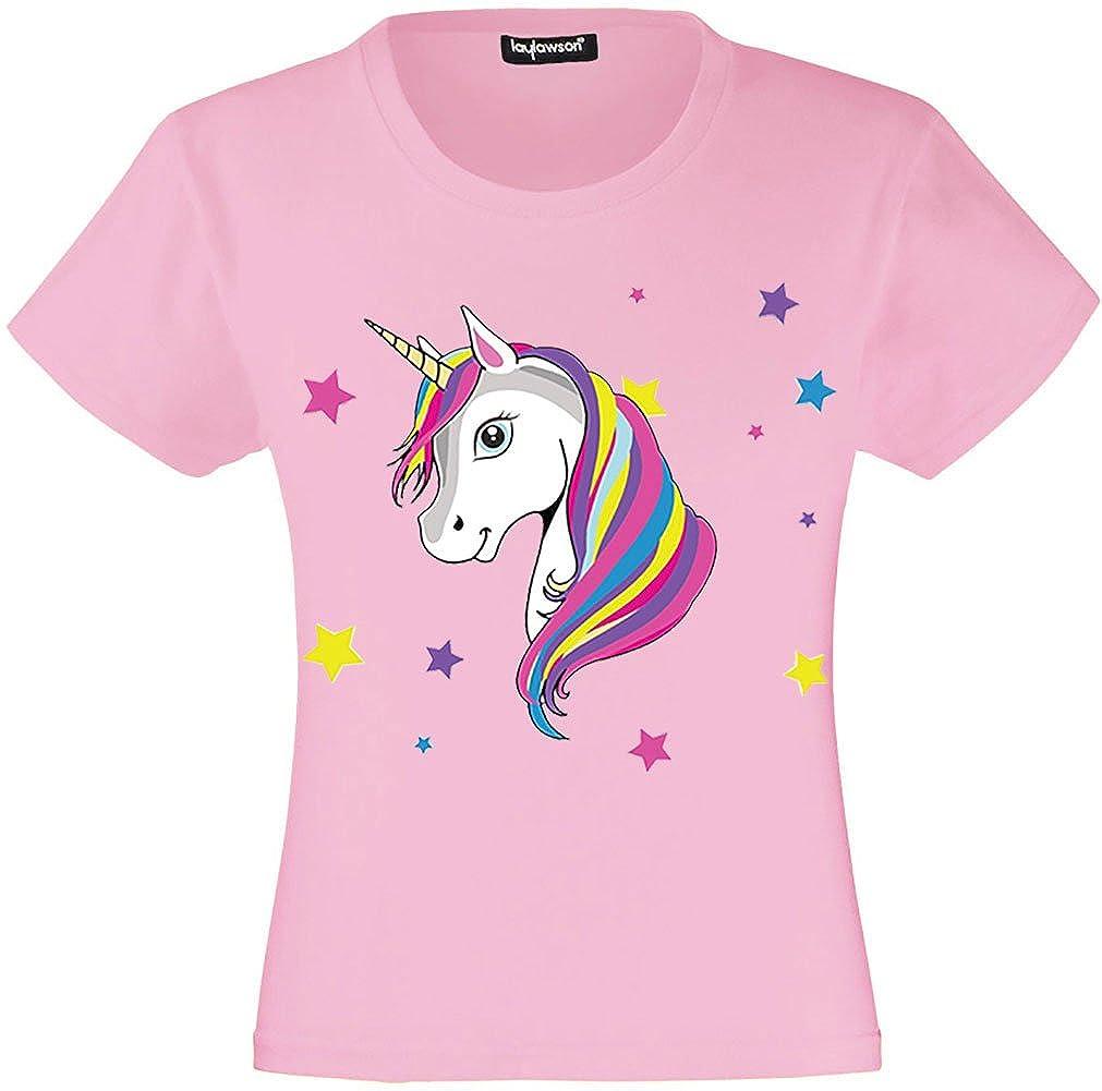 Unicorn T-Shirt Girls Kids Unicorn T Shirt Tee Top Ages 3 to 15 Years