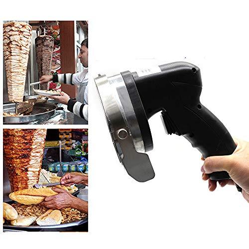 Electric Kebab Knife,110V 80W Professional Commercial Electric Shawarma Doner Kebab Knife Cutter Gyros Slicer Kebab Knife 2 Blades (USA Stock) by SHZICMY (Image #9)
