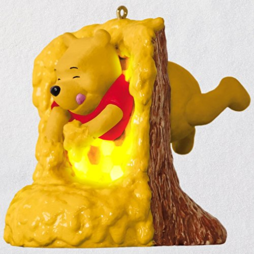 Hallmark Keepsake Christmas Ornament 2018 Year Dated, Disney Winnie the Pooh Rumbly in My Tumbly With Music and - Hall Ornament Family