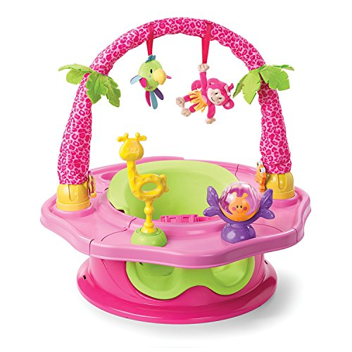 Summer Infant 3-Stage SuperSeat Deluxe Giggles Island Positioner, Booster and Activity Seat for Girl (Seat Gear Baby)