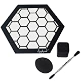 Silicone Mat Bundle - 8'' Hexagon Mat + 5'' Carving Tool + 7ml Non-Stick Container + Sponge - Lionhead (Honeycomb)