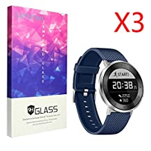 Huawei Fit Screen Protector, Lamshaw 9H Tempered Glass Screen Protector for Huawei Fit Smart Watches Screen Protector (3 pack)