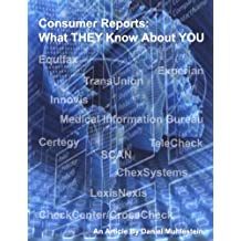 Consumer Reports What THEY Know About YOU