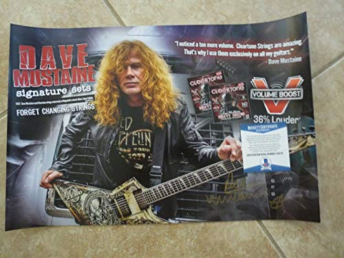 Dave Mustaine Megadeth Autographed Signed Memorabilia 12X18 Promo Poster Beckett Certified 2