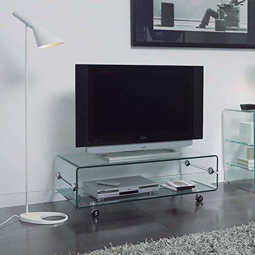 Mesas de Televisión de Cristal : Modelo BILBO de 100x35x50: Amazon ...