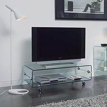 Mesas De Television De Cristal Modelo Bilbo De 100x35x50 Amazon