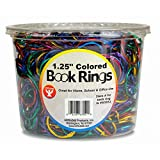 HYGLOSS 63250 Book Ring-Counter Display, 500-Pack, 1.25-Inch