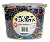 Hygloss Products, Inc Products Book Rings 1 1/4 inch Assorted Colors