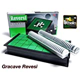 Gracave Reversi【Classic Board Games Magnetic othello】10*10*1Inch