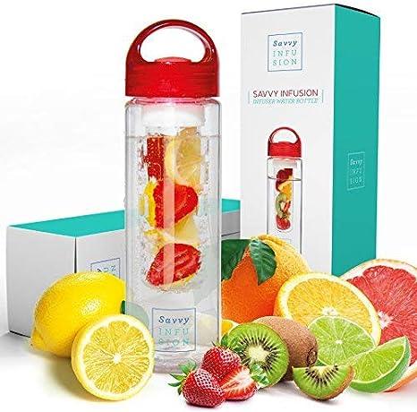 Infusion Water Bottles Infuser Fruit Veggies Juice Tea Sport Detox Health NEW