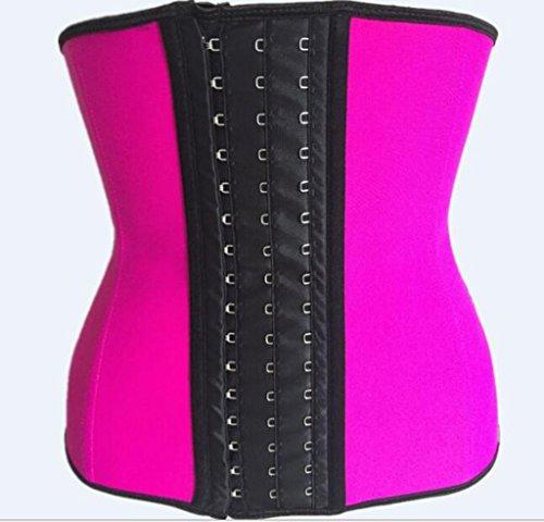HETAO Women's Caress Bustier Steel Rubber Corset Abdomen Corset Body Underwear,Pink,XL Caress Bustier