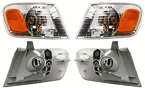 Discount Starter and Alternator TO2531137 TO2530137 Toyota Corolla Replacement Headlight Pair Plastic Lens With (1.8l 4cyl Alternator)