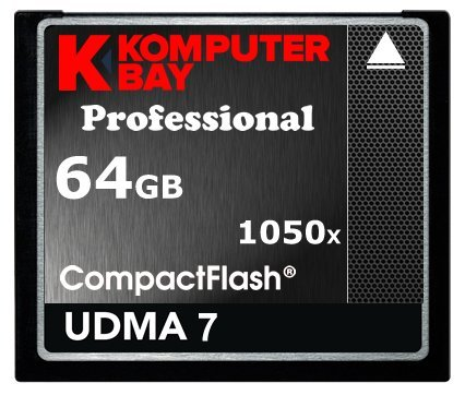 Komputerbay 64GB Professional Carte Compact Flash CF 1050X écrire 100 Mo/s en Lecture 160 Mo/S Extreme Speed UDMA 7 RAW 64 Go by KOMPUTERBAY