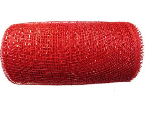 6 inch x 30 feet -YYCRAFT Metallic Deco Poly Mesh Ribbon 10 Yards Apple Green
