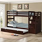 Harper&Bright Designs Twin-Over-Twin Trundle Bunk Bed with 4 Storage Drwers (Espresso) Review