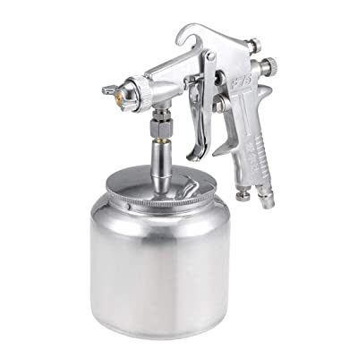 uxcell Spray Gun 1.7mm Nozzle with 400cc Cup HVLP Gravity Feed Paint Tool Kit, Aluminium Alloy: Automotive