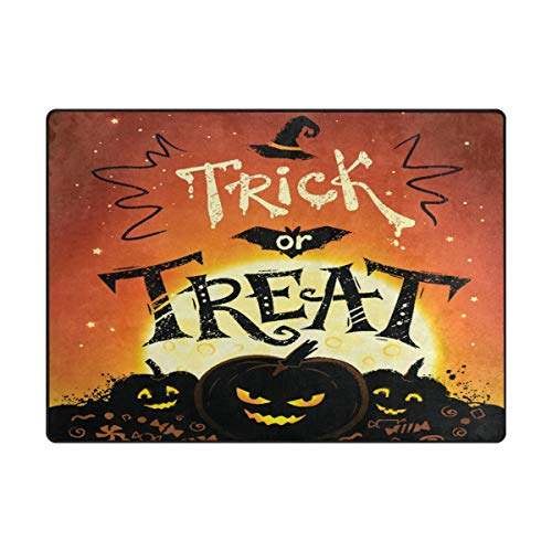 SUABO 63 x 48 inches Area Rug Non-Slip Floor Mat Halloween F