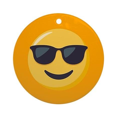 CafePress - Gafas de sol Emoji - redondo vacaciones Navidad ...