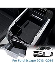Vesul Center Console Storage Box Fit for Ford Escape 2013 2014 2015 2016 ABS Tray Insert Armrest Organizer Glove Pallet