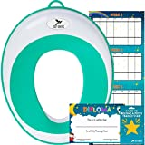 Potty Training Seat for Boys and Girls | Toddler Potty Ring | Fits Round and Oval Toilets | FREE Folding Toilet Training Chart, Kids Toilet Training Essentials eBook | Gift Box