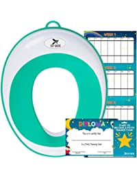 Potty Training Seat for Boys and Girls | Toddler Potty Ring | Fits Round and Oval Toilets | FREE Folding Toilet Training Chart, Kids Toilet Training Essentials eBook | Gift Box BOBEBE Online Baby Store From New York to Miami and Los Angeles