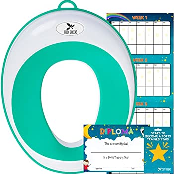 Kid's Potty Training Seat w/Training Chart, eBook & Gift Box