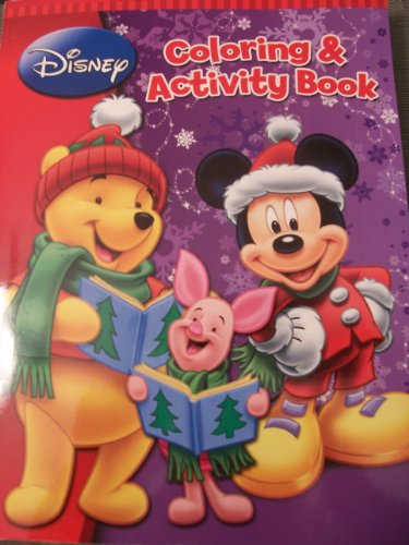 Disney Christmas Coloring and Activity Book Winnie the Pooh and Mickey Mouse Clubhouse (288 Pages; 8
