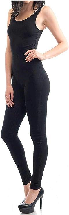 Speerise Womens Spaghetti Strap Bodysuit Yoga Unitard Active Jumpsuit