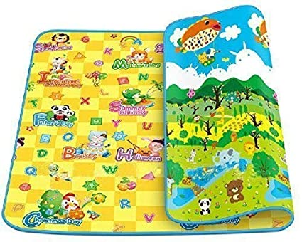 Cal C Baby Mat Waterproof Extra Large Size for Safety (Assorted Design) 6 Feet X 4 Feet