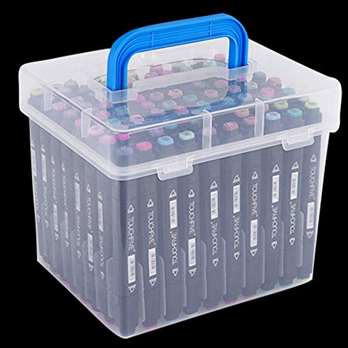 TOOGOO Transparent 80-Slots Portable Waterproof Markers Pens Storage Case for Mark Office Desk Organizer by TOOGOO (Image #5)