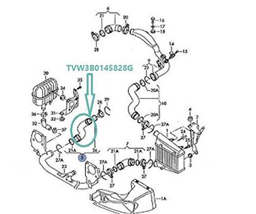 Para Superb 1.9 TDI 130Hp/Passat B5 3B 3BG B5 130Hp 1.9 TDI Turbo Intercooler Hose Pipe 3b0145828g: Amazon.es: Coche y moto